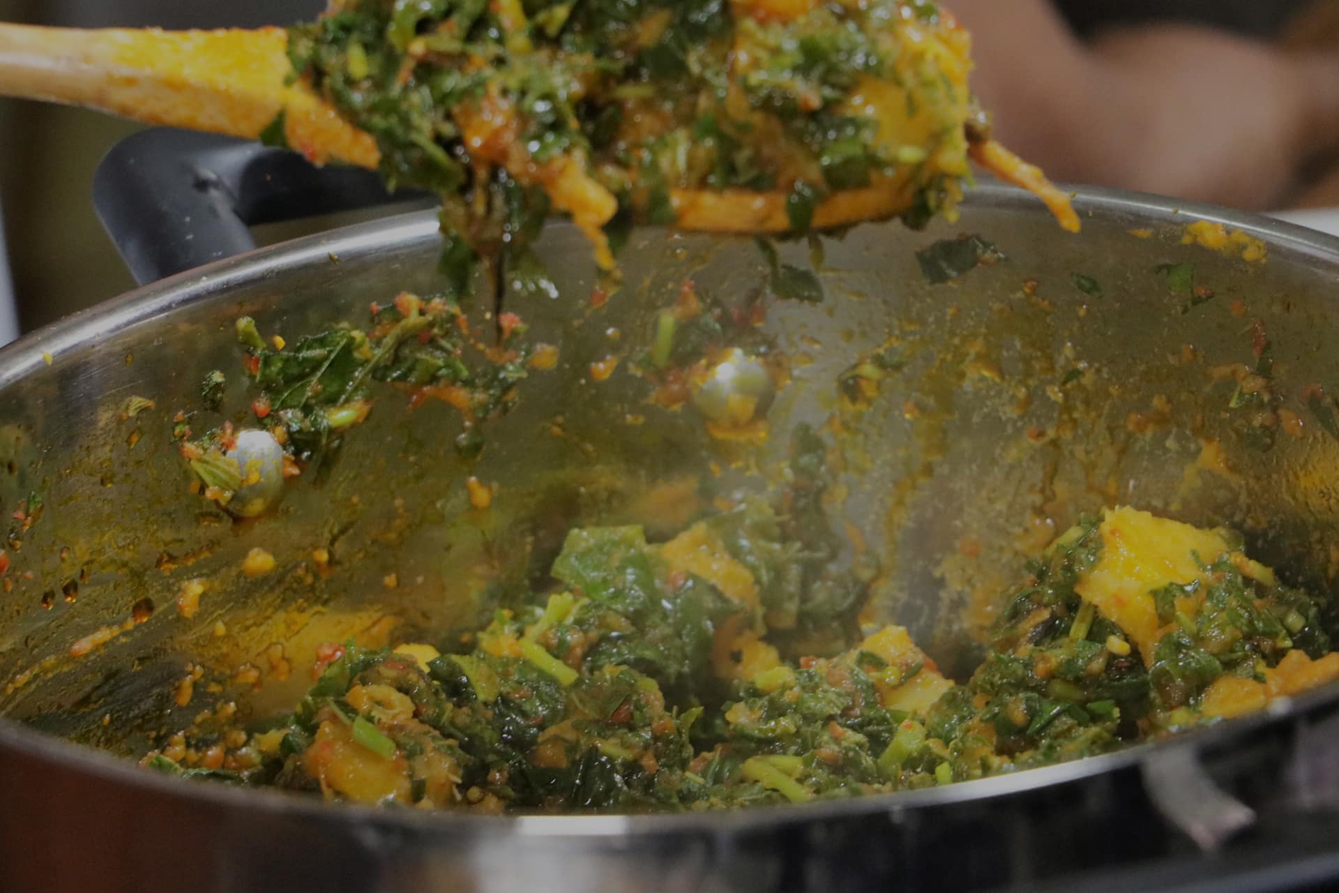 Yam in Vegetable Sauce