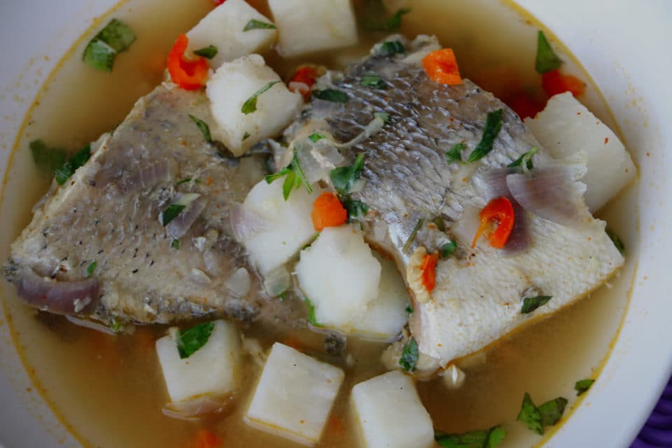 Yam and Fish Pepper Soup