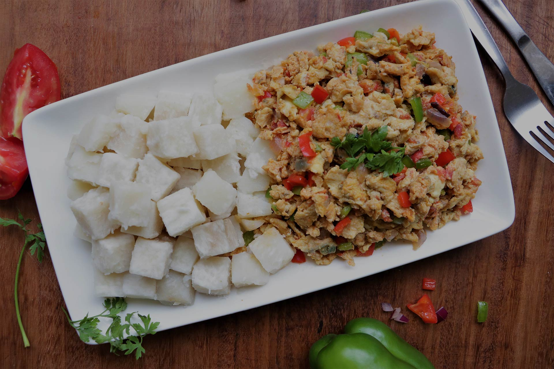 Spicy Egg Sauce with Yam