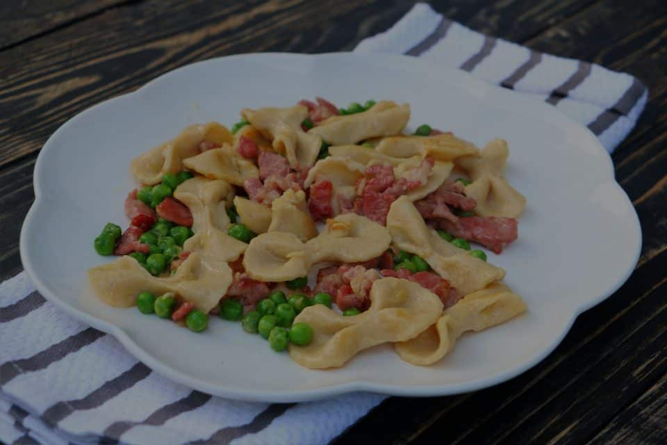 Farfalle with Bacon and Peas