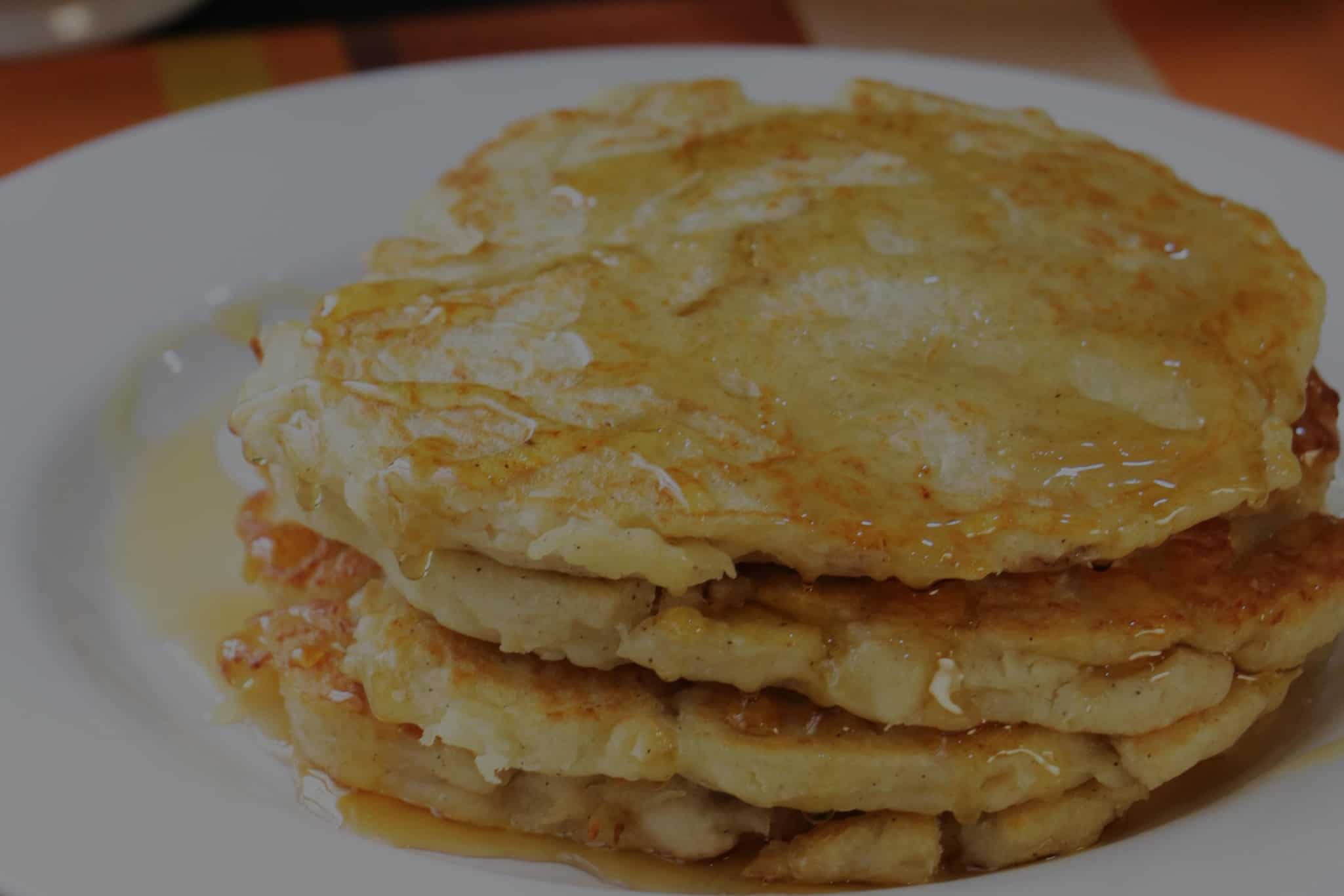 Yam and Shredded Chicken Pancakes