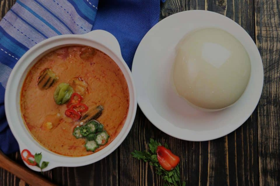 Pounded Yam and Peanut Soup (Ghanaian)