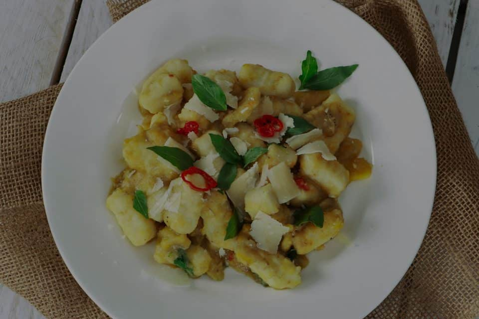 Yam and Plantain Gnocchi